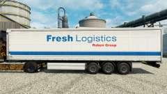 Frische-Logistik-Haut für Anhänger für Euro Truck Simulator 2