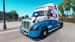 Скин North American на Freightliner Cascadia für American Truck Simulator