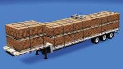 Bas de balayage avec les charges de la construction v1.2 pour American Truck Simulator