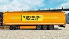 Skin Vorsicht Saure for trailers für Euro Truck Simulator 2