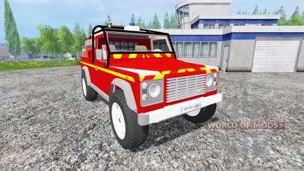 Land Rover Defender 110 [feuerwehr] pour Farming Simulator 2015