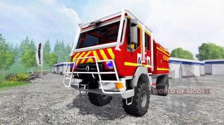 Renault Midlum Crew Cab 4x4 [sapeurs-pompiers] pour Farming Simulator 2015