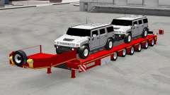 Bas de balayage avec des voitures Hummer pour American Truck Simulator