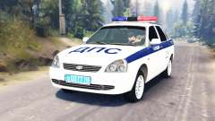 LADA Priora Police DPS (VAZ-2170) pour Spin Tires