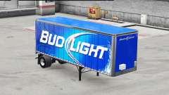 Haut Bud Light metal auf dem Anhänger für American Truck Simulator