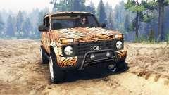 VAZ-21214 (Lada 4x4 Urbain) tiger pour Spin Tires