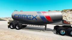 Haut Cemex semi-tank für Zement für American Truck Simulator