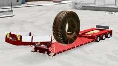 Bas de balayage avec la charge de pneus de grandes pour American Truck Simulator
