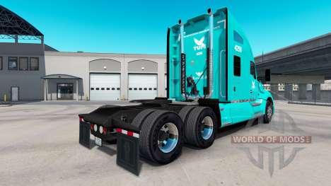 La peau TUM sur tracteur Kenworth T680 pour American Truck Simulator