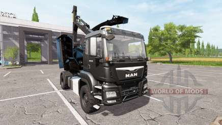 MAN TGS 18.480 wood crusher pour Farming Simulator 2017