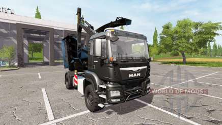 MAN TGS 18.480 wood crusher v1.3 pour Farming Simulator 2017