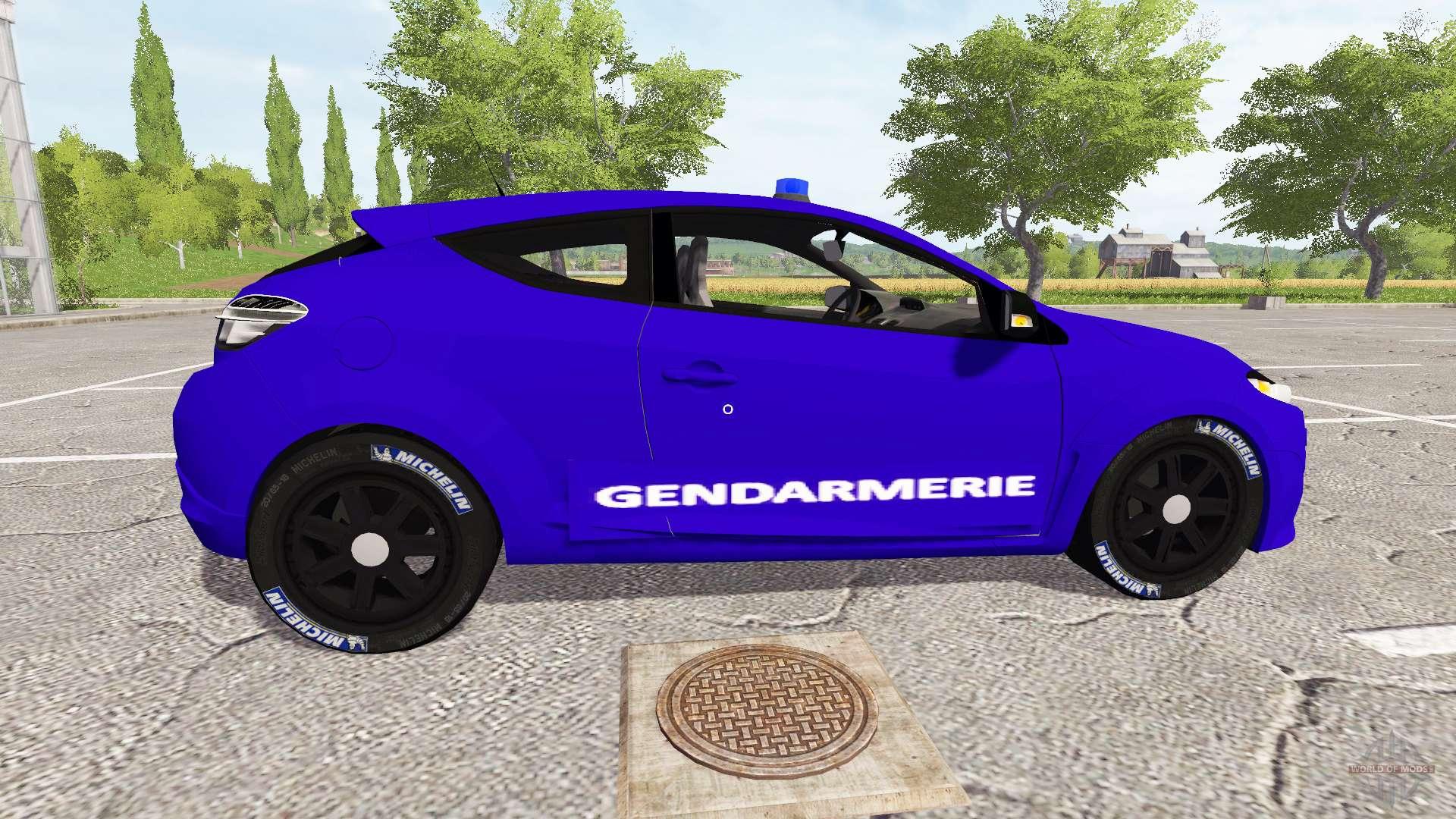 renault megane r s 265 gendarmerie pour farming simulator 2017. Black Bedroom Furniture Sets. Home Design Ideas