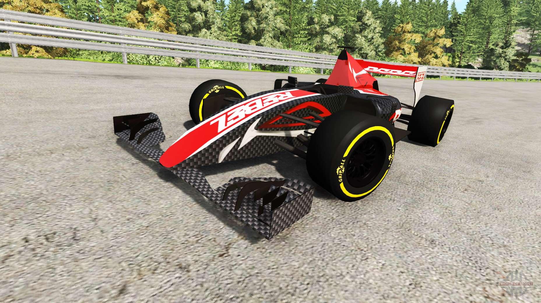 la formule 1 voiture de course v2 0 pour beamng drive. Black Bedroom Furniture Sets. Home Design Ideas