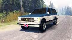 Chevrolet S-10 Blazer 1980 für Spin Tires