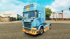 La peau DS3 sur le tracteur Scania