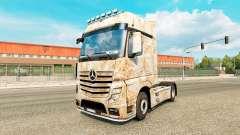 La peau de Rouille sur le tracteur Mercedes-Benz