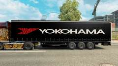 De la peau pour Yokohama semi-remorque