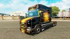La peau dorée pour camion Scania T