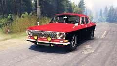 GAZ-24 la Volga dans l'un des Principaux pour Spin Tires