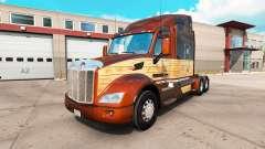 Vintage-Holz-skin für den truck Peterbilt 579