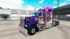 La peau Valérie sur le camion Kenworth W900