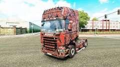 La peau Alien Masque C sur tracteur Scania