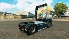 Haut Engel auf Sky Zugmaschine Scania