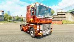 La peau Fantasy Guerre pour tracteur Renault