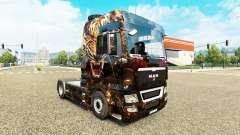 Die Haut der Tiger auf der LKW-MANN