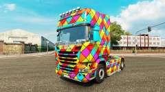 Arlequin de la peau pour camion Scania