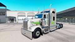 La peau Movin sur camion-tracteur Kenworth W900