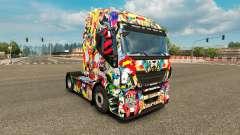 La peau de l'Univers Marvel sur le camion Iveco