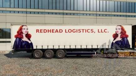 Peaux Rousse Logistique sur la remorque pour Euro Truck Simulator 2