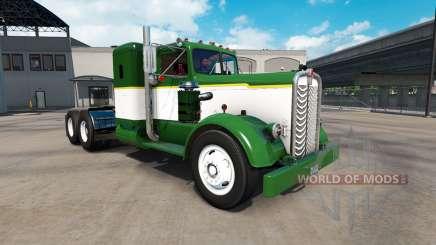 Peau Vert Et Blanc camion tracteur Kenworth 521 pour American Truck Simulator