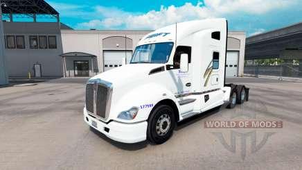 La peau Swift sur tracteur Kenworth T680 pour American Truck Simulator