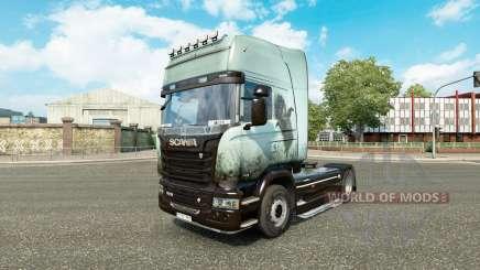 La peau de Hérisson dans le brouillard sur le tracteur Scania pour Euro Truck Simulator 2