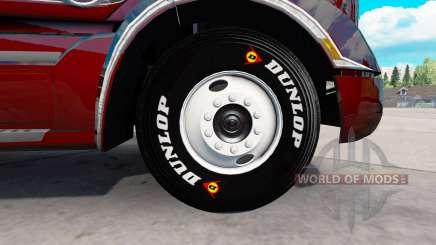 De vrais pneus pour American Truck Simulator
