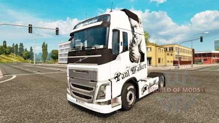 Paul Walker skin für Volvo-LKW für Euro Truck Simulator 2