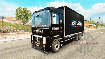 La peau Chereau pour tracteur Renault Magnum tandem pour Euro Truck Simulator 2