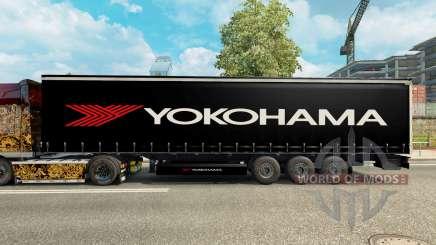 De la peau pour Yokohama semi-remorque pour Euro Truck Simulator 2