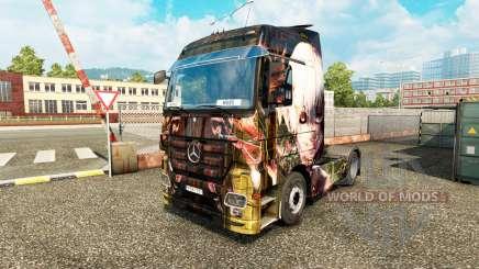 Haut Tokyo Ghoul auf eine Zugmaschine Mercedes-Benz für Euro Truck Simulator 2