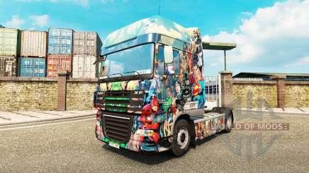 DC Comics skin für DAF-LKW für Euro Truck Simulator 2