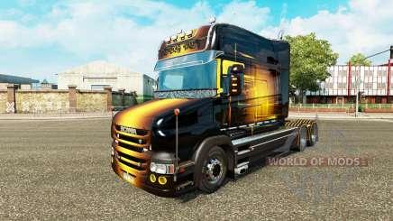 Golden skin für LKW Scania T für Euro Truck Simulator 2