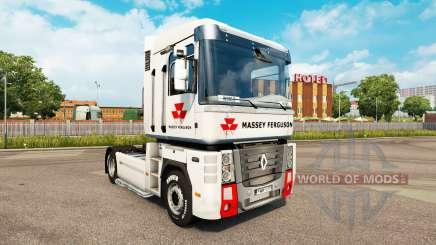Massey Ferguson de la peau pour Renault Magnum tracteur pour Euro Truck Simulator 2