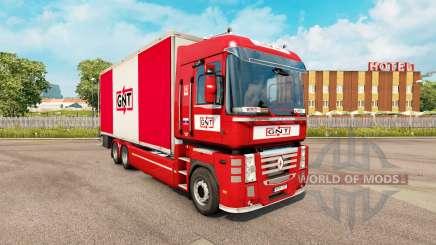La peau GNT pour tracteur Renault Magnum tandem pour Euro Truck Simulator 2