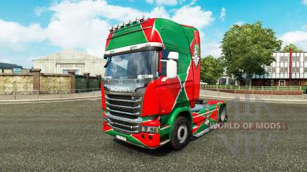La peau de la locomotive v2.0 camion Scania pour Euro Truck Simulator 2