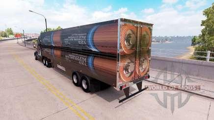 Une collection de skins 3D sur la remorque pour American Truck Simulator