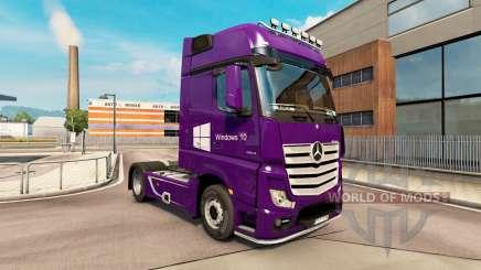La peau de Windows 10 pour le remorquage de véhicules Mercedes-Benz pour Euro Truck Simulator 2
