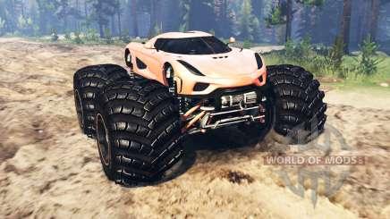Koenigsegg Regera pour Spin Tires