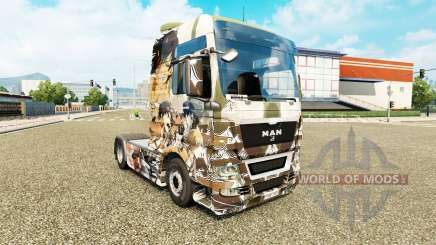 Haut-Angriff auf die Titanen auf Traktor MAN für Euro Truck Simulator 2
